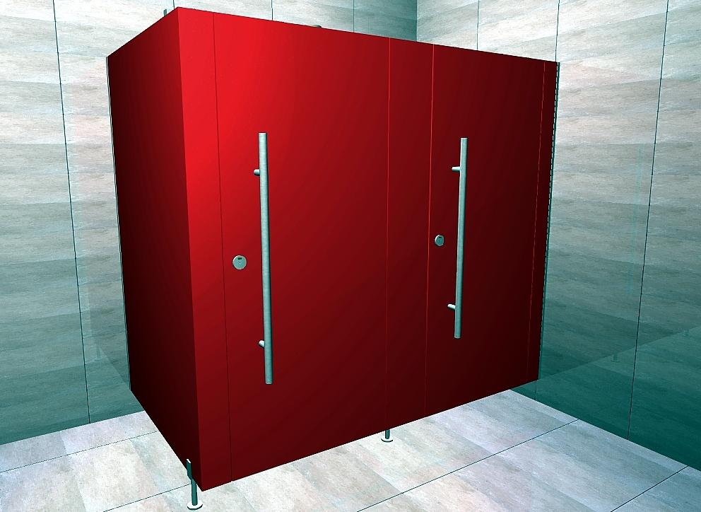 Kabiny sanitarne podwieszane LUX UP WL 28 zawiasy ukryte reling-opcja