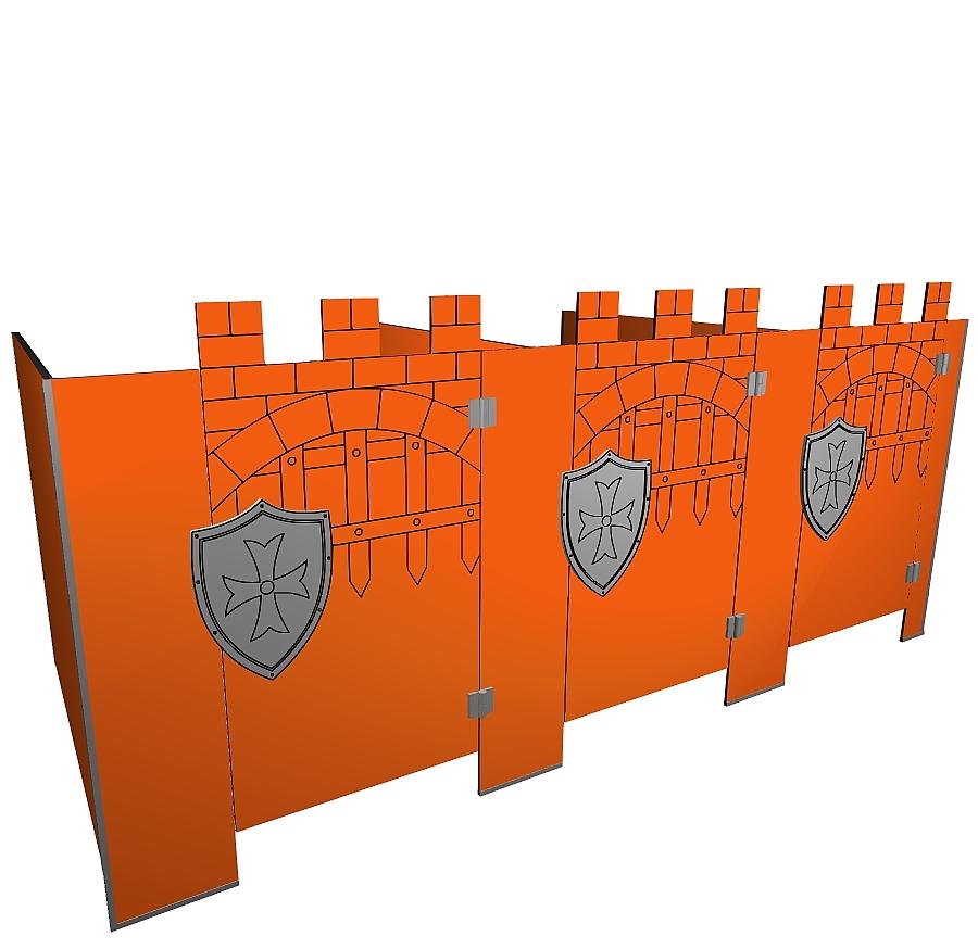 Kabiny sanitarne przedszkolne KIDS CASTLE V4P b tła