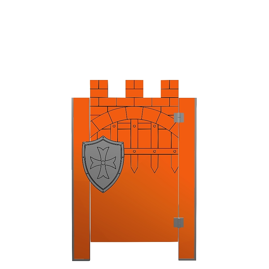 Kabiny sanitarne przedszkolne KIDS CASTLE V4P front