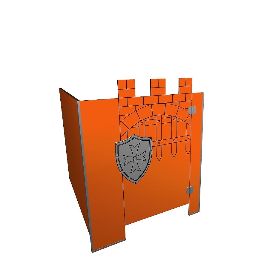 Kabiny sanitarne przedszkolne KIDS CASTLE V4P narożna