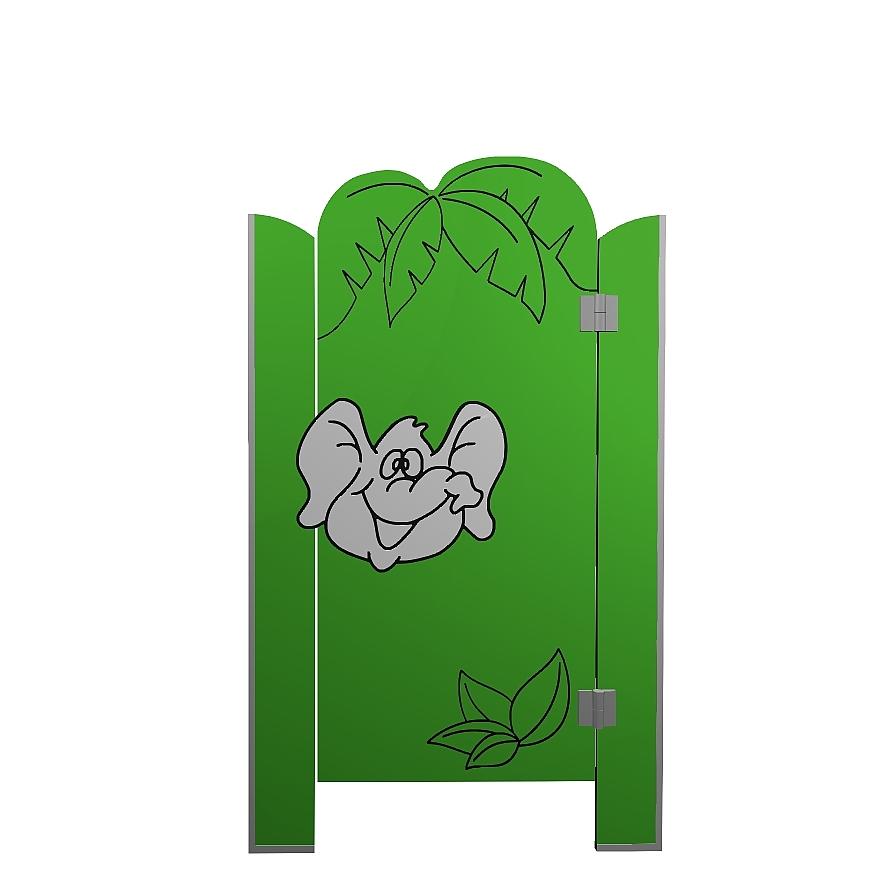 Kabiny sanitarne przedszkolne KIDS JUNGLE V2P front