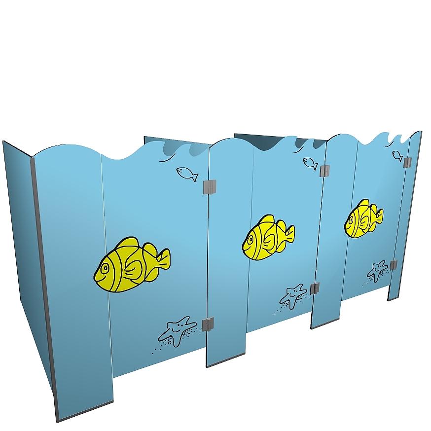 Kabiny sanitarne przedszkolne KIDS SEA V2P b tła