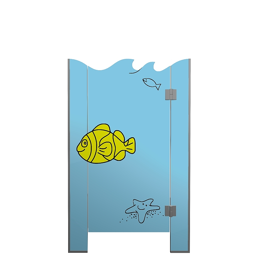 Kabiny sanitarne przedszkolne KIDS SEA V2P front