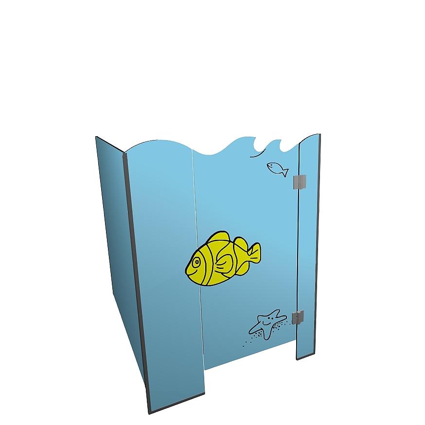 Kabiny sanitarne przedszkolne KIDS SEA V2P narożna