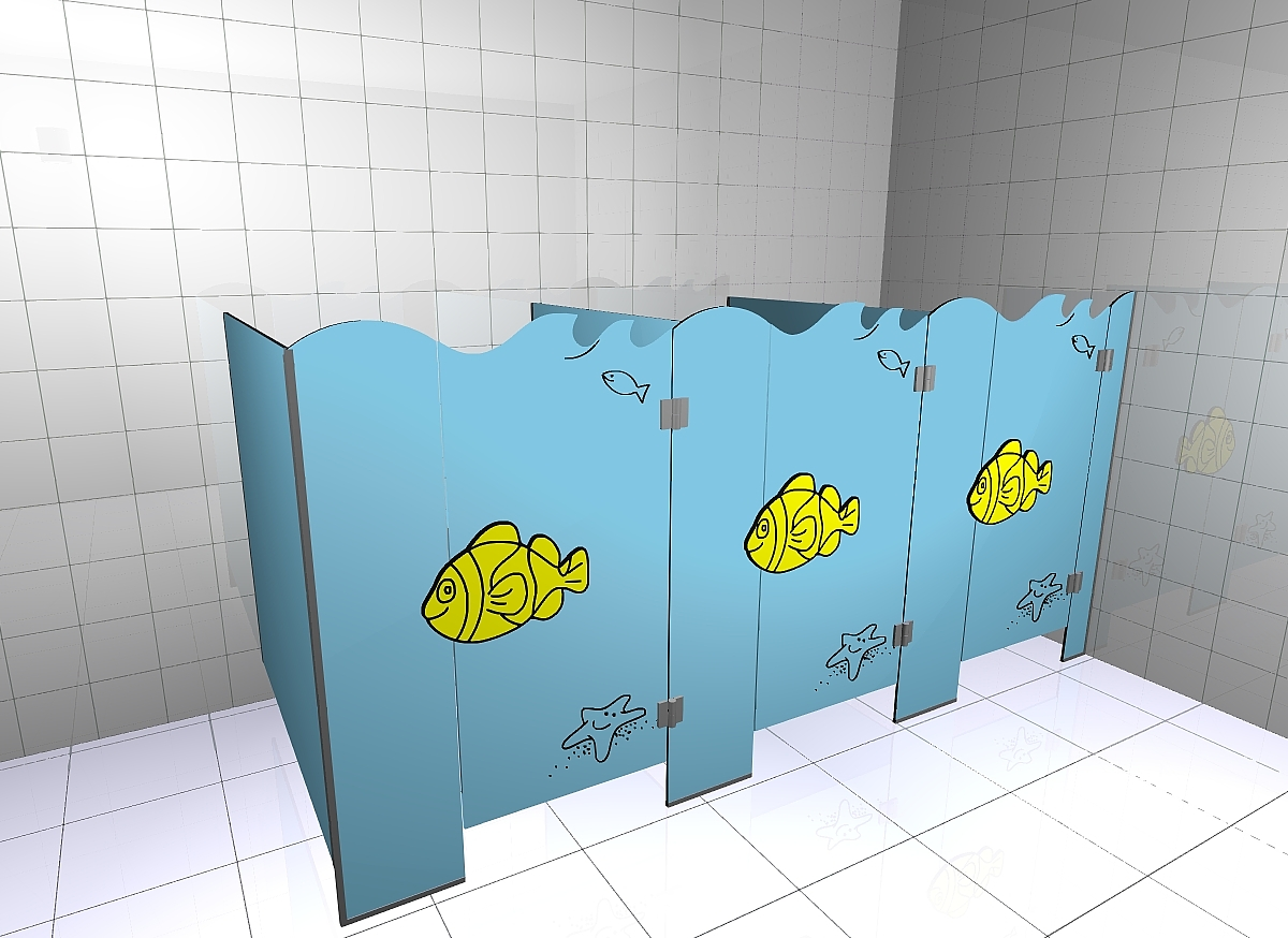 Kabiny sanitarne przedszkolne KIDS SEA V2P